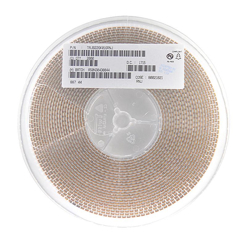 AVX Genuine 3528 SMD Tantalum Capacitor 16V 22UF Type B Accuracy ±10% 226C Yellow