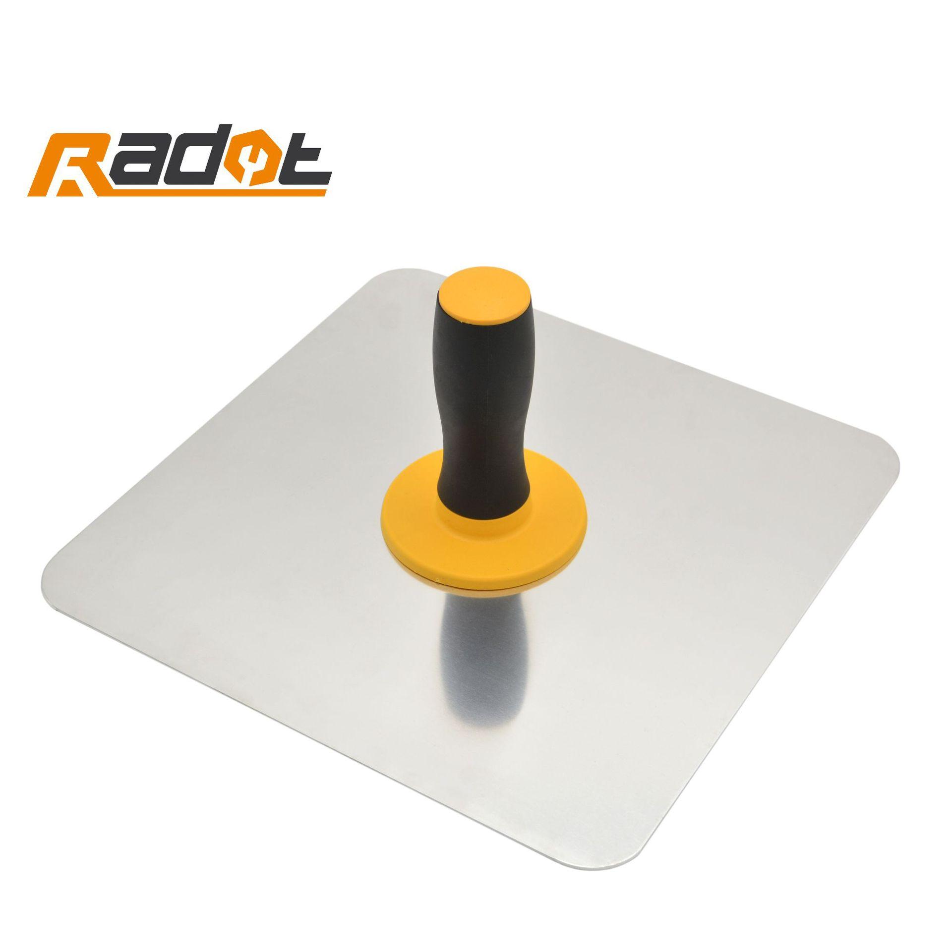 RUIDUOTE Aluminum plate two-color handle holding clay mason tool for masons gray board mason board