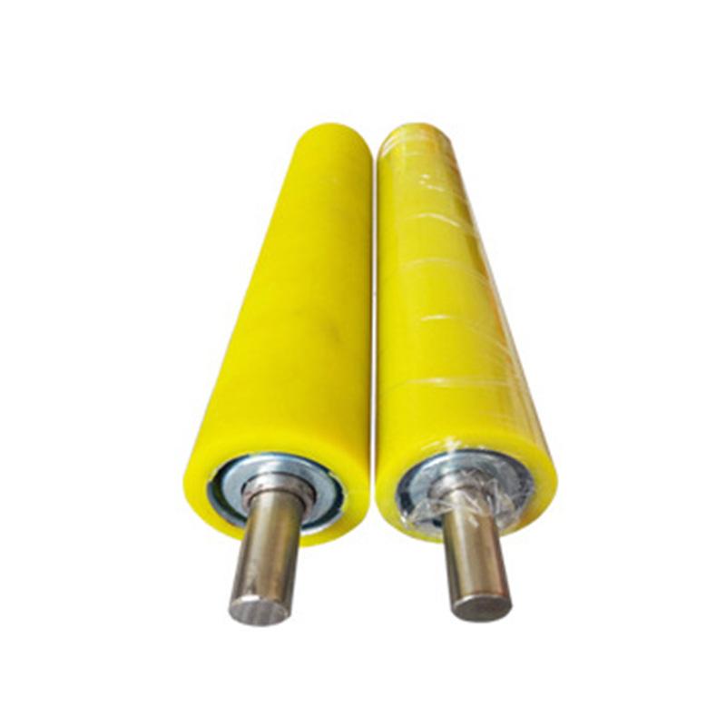 Conveyor belt idler roller polyurethane rubber coating Cold-rolled pickling roller direct supply rol