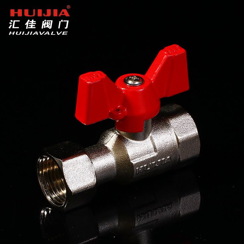Double inner wire live connection ball valve butterfly handle ball valve thickened ball valve live c