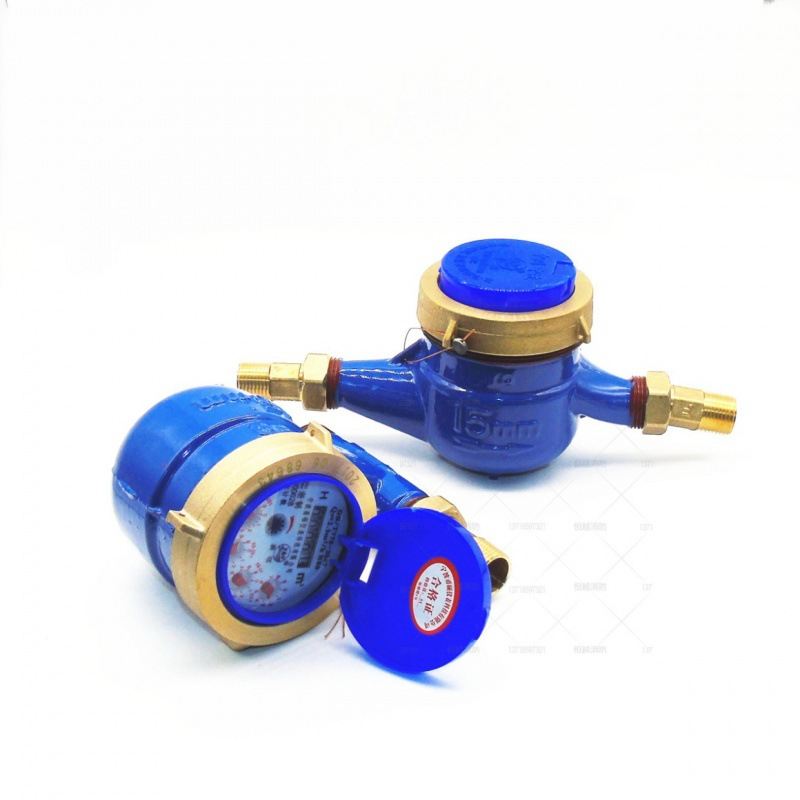 Water meter Household dry type threaded cold water meter 4 points 6 points water meter Household tap