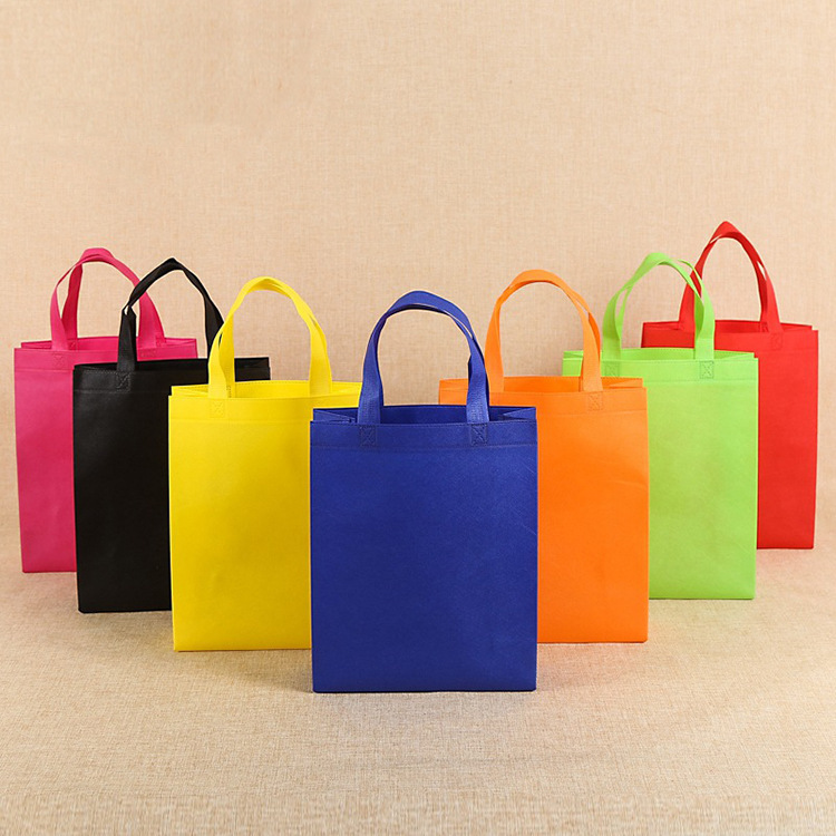 WEIHENG Hot-pressed non-woven bag, portable clothing bag, takeaway packaging bag, advertising color
