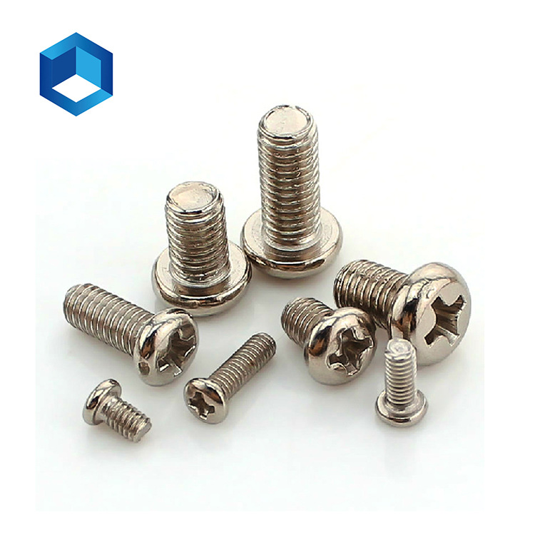 Hand-tightened miniature screw PM M3 cross recessed pan head round head machine screw household mach