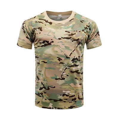 Nhà máy sản xuất áo thun ngụy trang ngắn tay tại chỗ mùa hè ngoài trời đồng phục huấn luyện quân sự