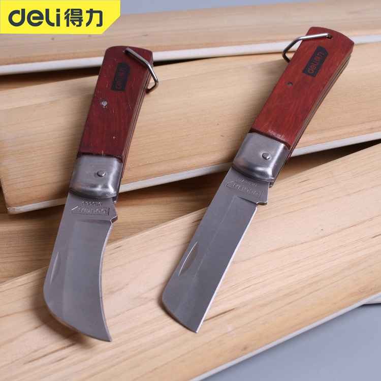 Powerful electrician's knife DL0070 straight blade curved blade stripping knife cable special elect