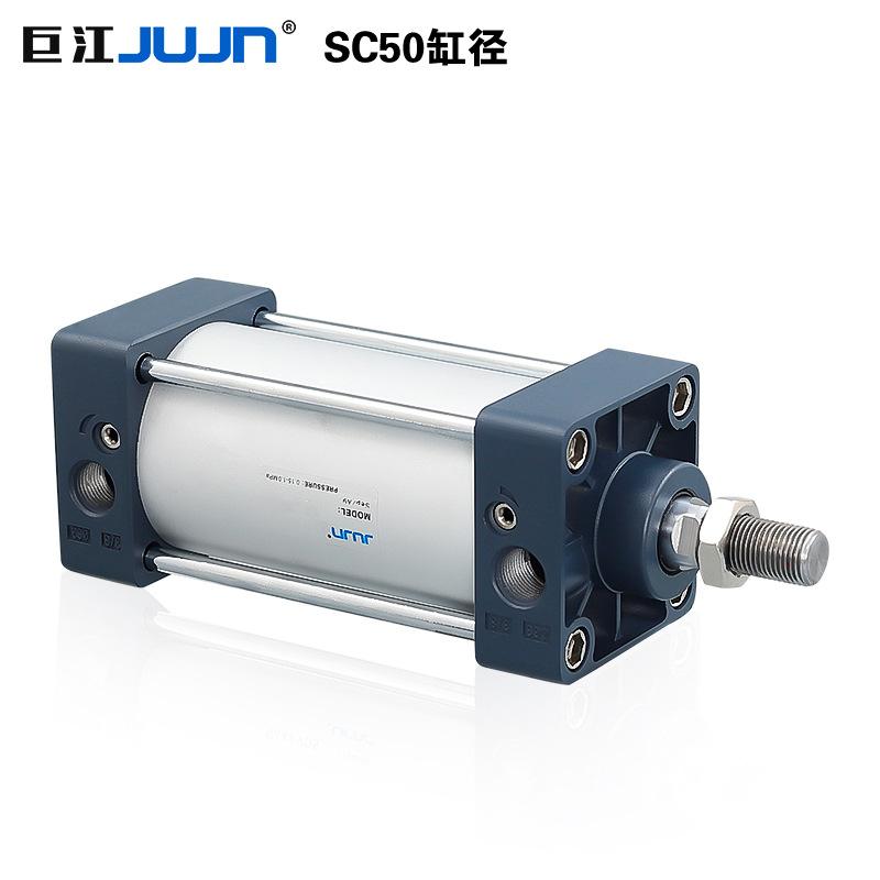 Jujn Pneumatic SC Standard Cylinder SC50*50/75/125/150/200/300S Aluminum Alloy Square Cylinder