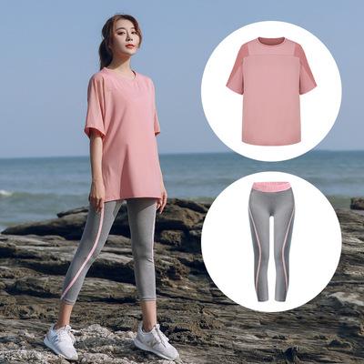 Quần áo tập yoga mới của phụ nữ bộ đồ chạy bộ đồ thể thao quần áo thể dục quần áo nhanh khô quần áo