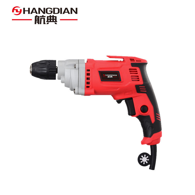 Hangdian electric hand drill 220V multi-function household pistol drill 10mm high power forward and