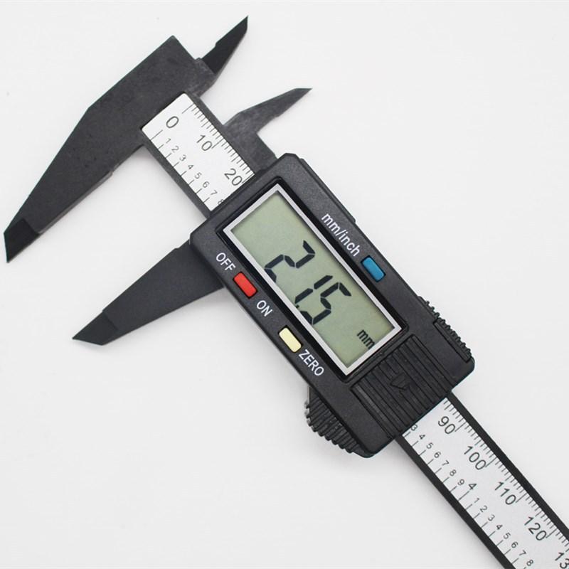 Electronic digital vernier caliper 0-150mm carbon fiber digital large screen Plastic digital caliper