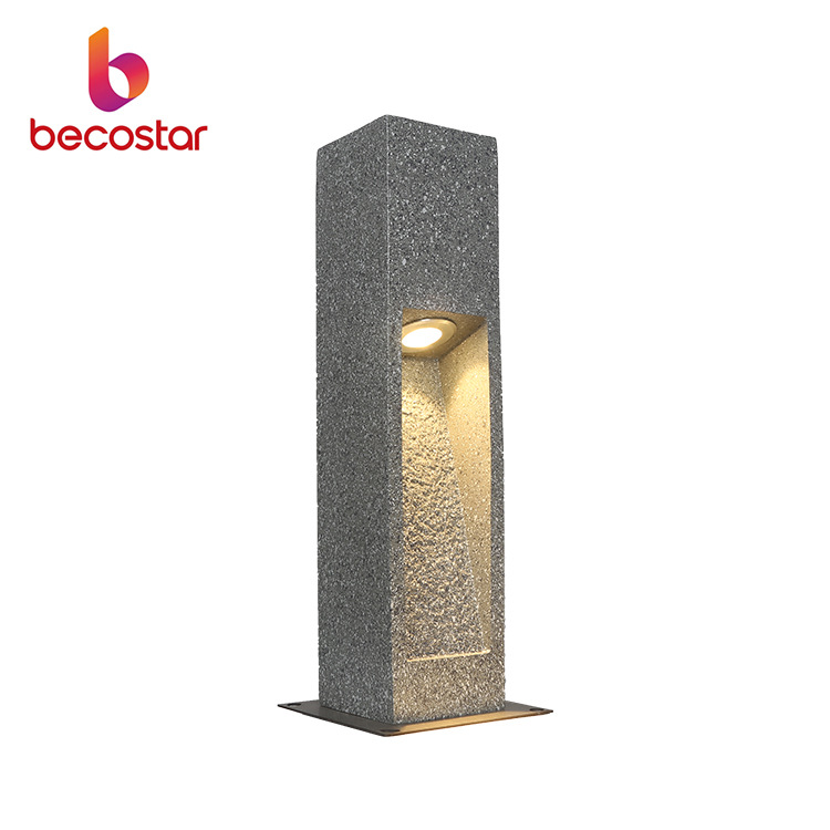 Cement color imitation stone resin lawn light engineering model polarized LED wood grain wood color