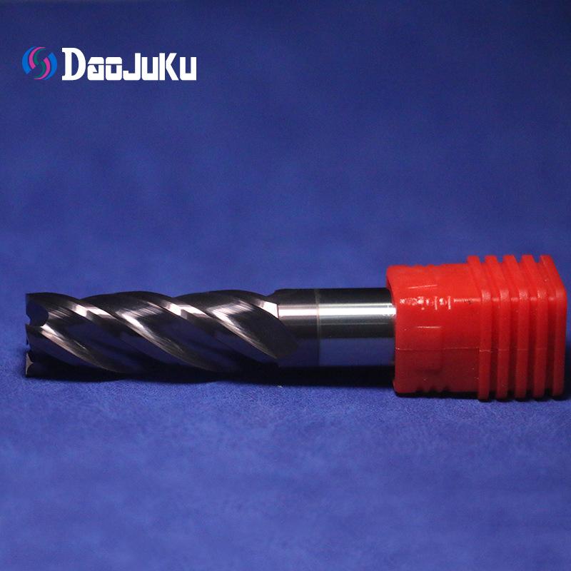 Daojuku 58 degree purple tungsten steel milling cutter carbide milling cutter end milling cutter fla