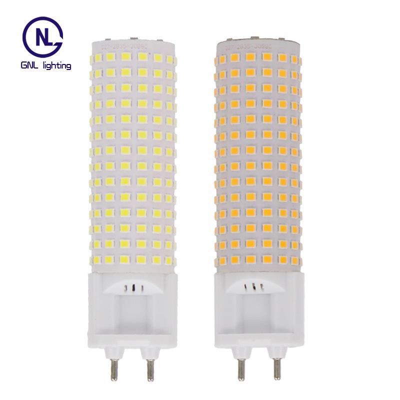 LED horizontal plug light all aluminum shell G12 corn light 240 beads 18W 20W household highlight en