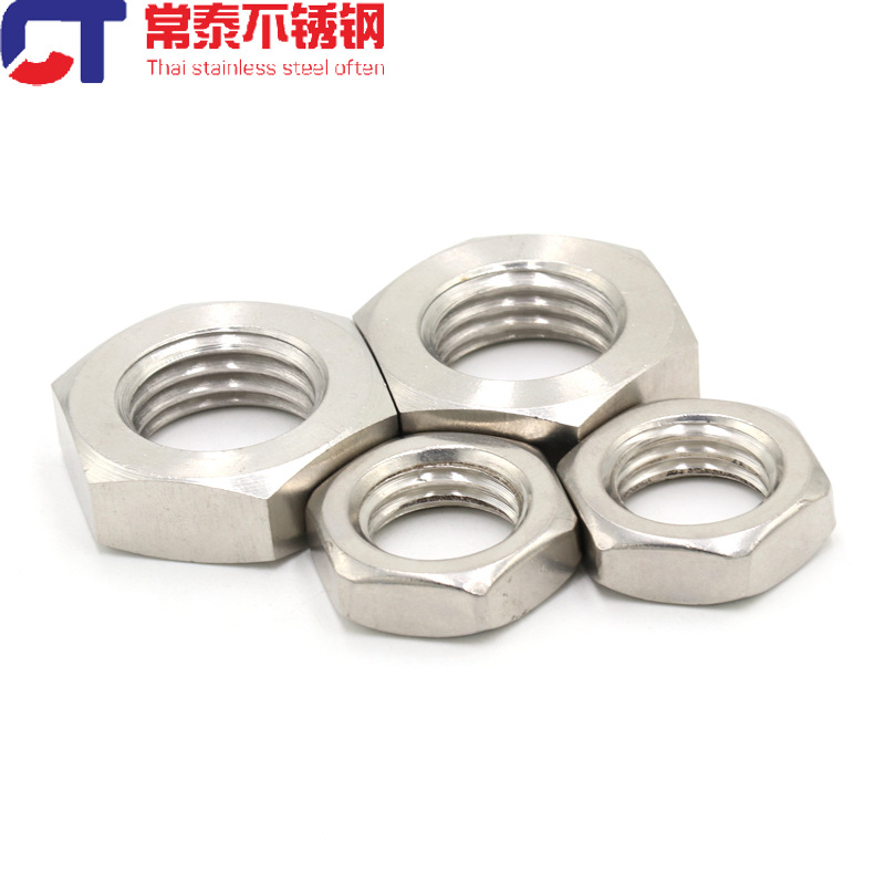 304 stainless steel hexagon thin nut thin nut GB6172 flat thin nut M4M5M6M8M10M12M14