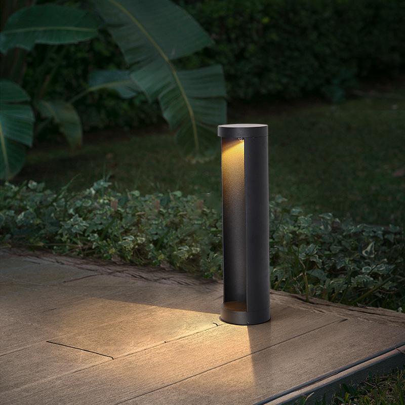 BIYU Solar lawn light LED aluminum simple ground-inserting garden outdoor yard light park villa hous