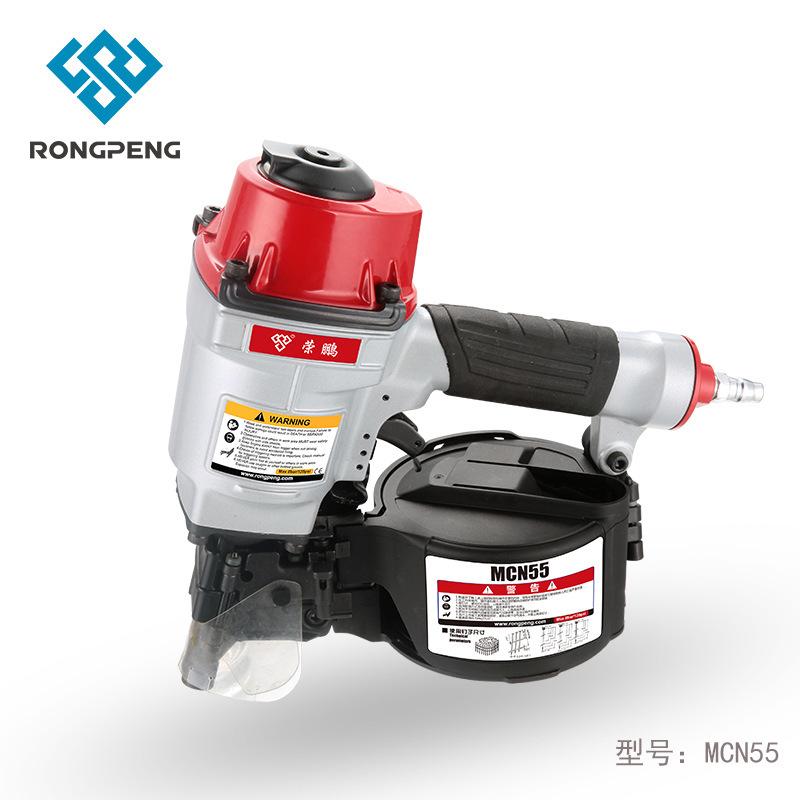 Rongpeng coil nail gun MCN55 pneumatic coil nail gun air nail gun wooden pallet nail gun pneumatic n