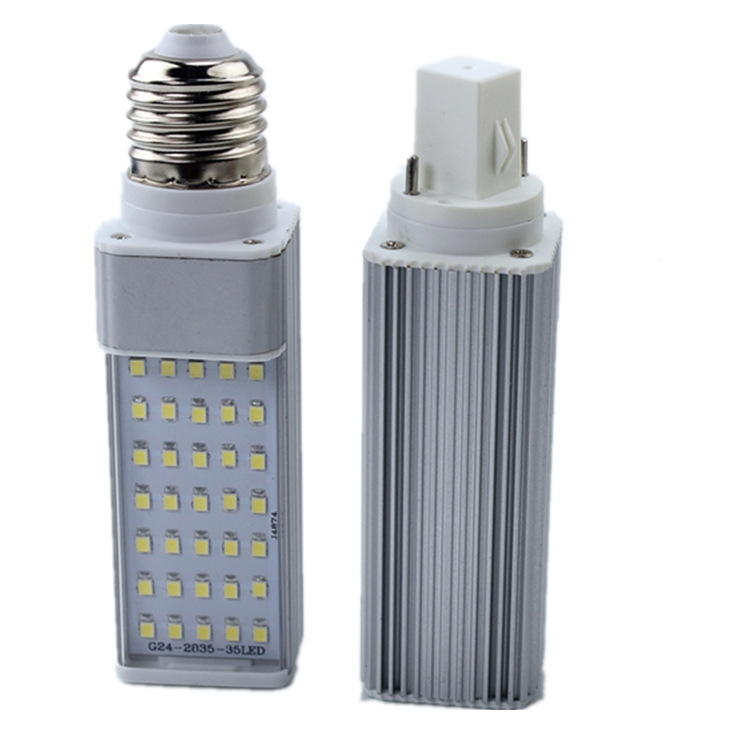 G24 plug-in tube energy-saving bulb all aluminum LED E27 screw mouth constant current wide voltage c