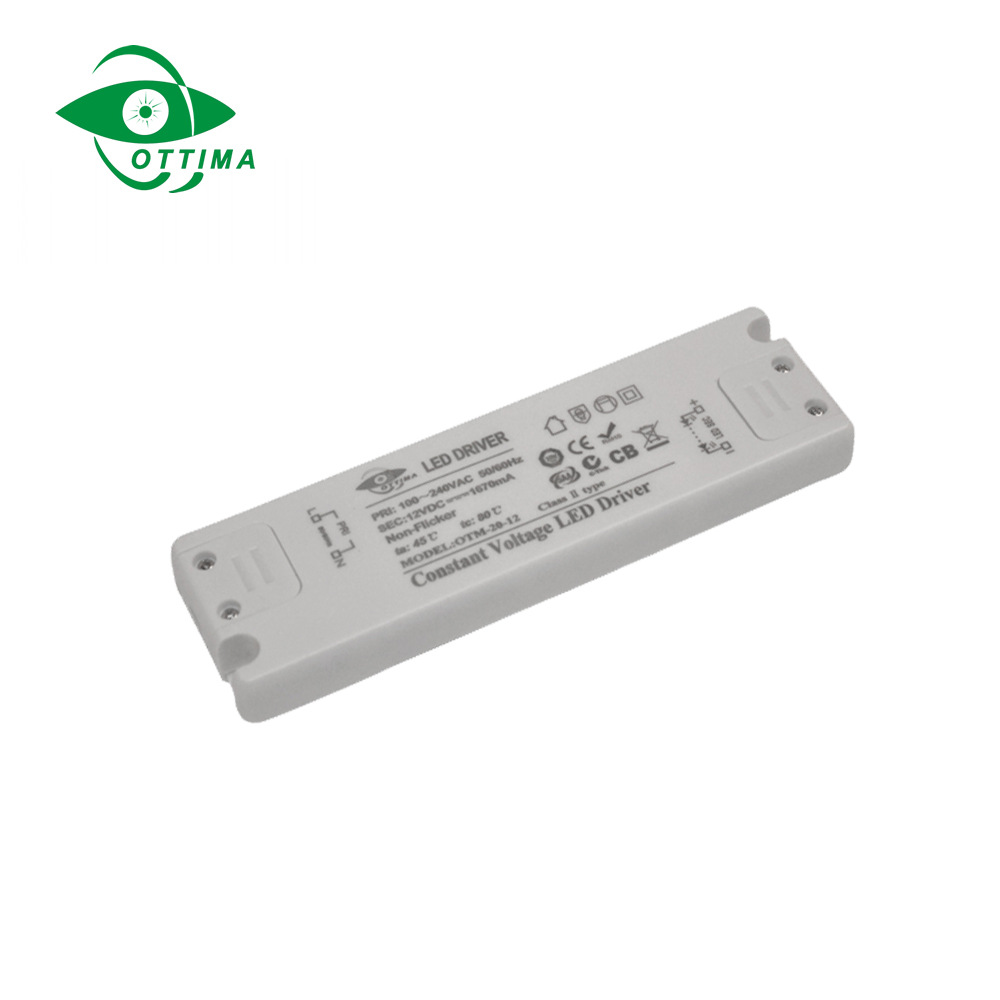 50W24VDC constant voltage ultra-thin led light power supply high quality plastic shell plastic shell