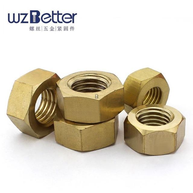 Copper hexagon nut Brass hexagon nut nut Brass nut GB52 M3-M24