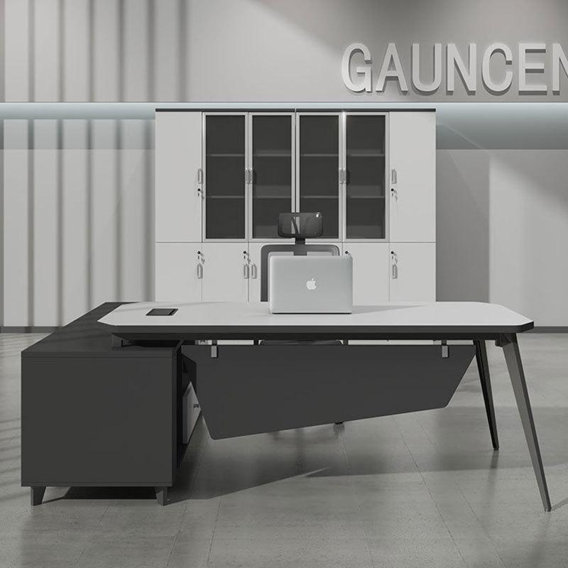 Office furniture simple modern manager desk supervisor single working position office computer desk