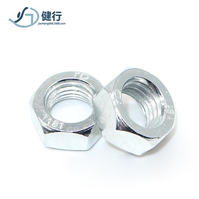 4.8 grade carbon steel hexagon nut GBM6 galvanized outer hexagon nut M8 screw nut M10 screw cap