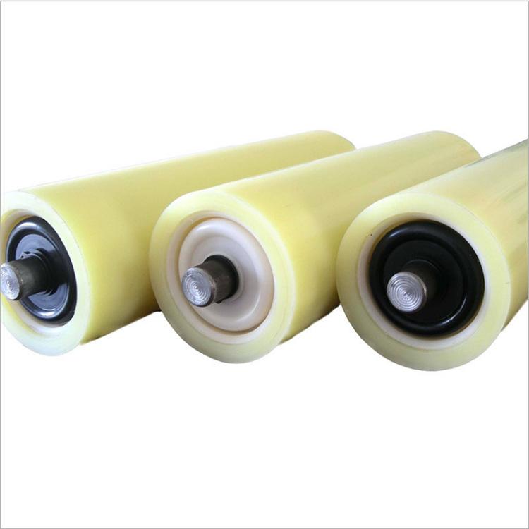 Rubber Insulated Roller, Polyurethane Nylon Roller for Mine Belt Conveyor, Triple Roller