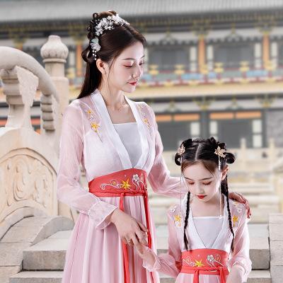 Trang phục dành cho trẻ em, quần áo dành cho mẹ và phụ nữ, Váy Hanfu mới của phụ huynh và trẻ em năm