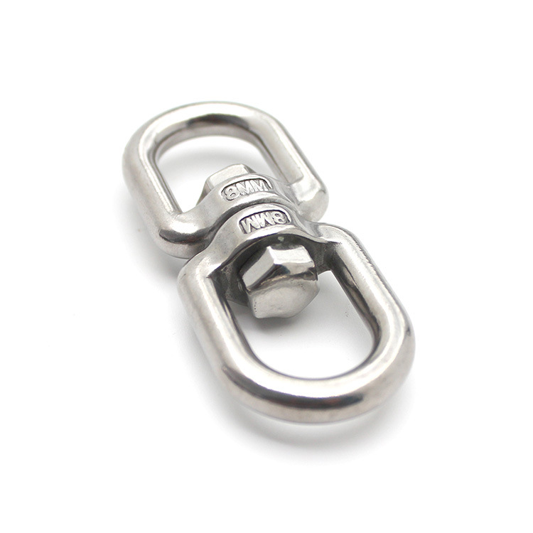 316 stainless steel swivel ring 8 word swivel chain rigging connection ring 304 stainless steel univ