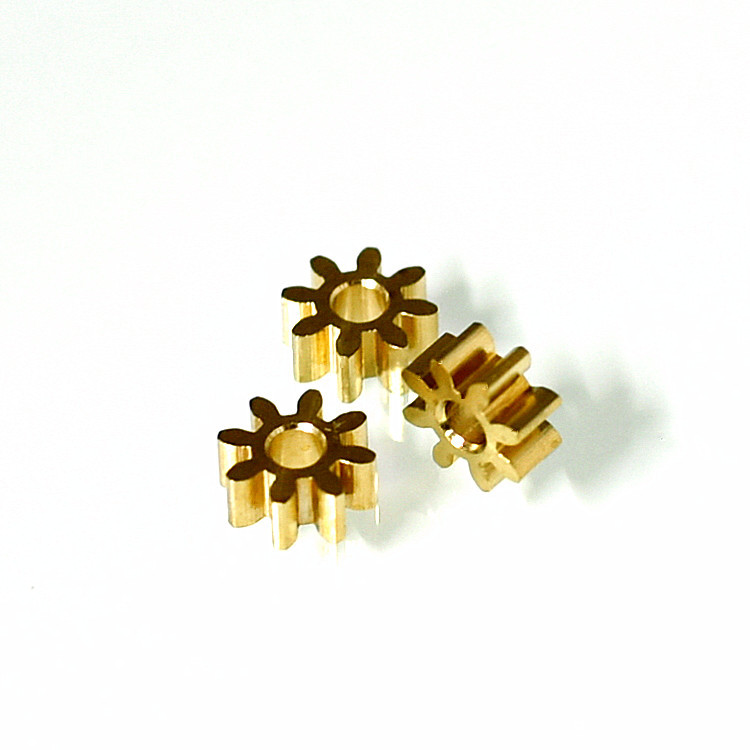 Toy drone motor 2.0*6*2.5*8 tooth copper gear