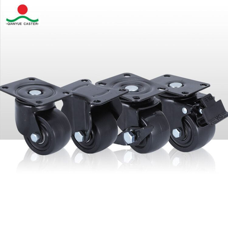 QIANYUE Low center of gravity universal wheel 1.5 inch 2 inch 2.5 inch 3 inch with brake industrial