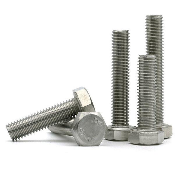 JIANNUO Stainless Steel Hexagonal Screw DIN933 Hexagonal Stainless Steel Bolt