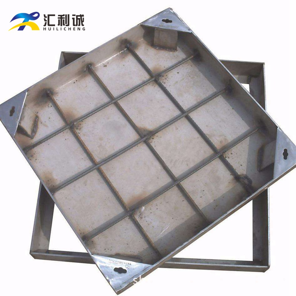 HUILICHENG Stainless steel manhole cover custom square stainless steel sinking manhole cover manhole