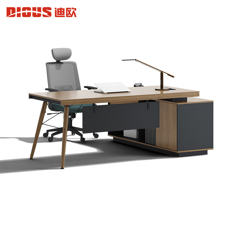 Dio office furniture manager supervisor table boss table president table solid wood feet simple mode