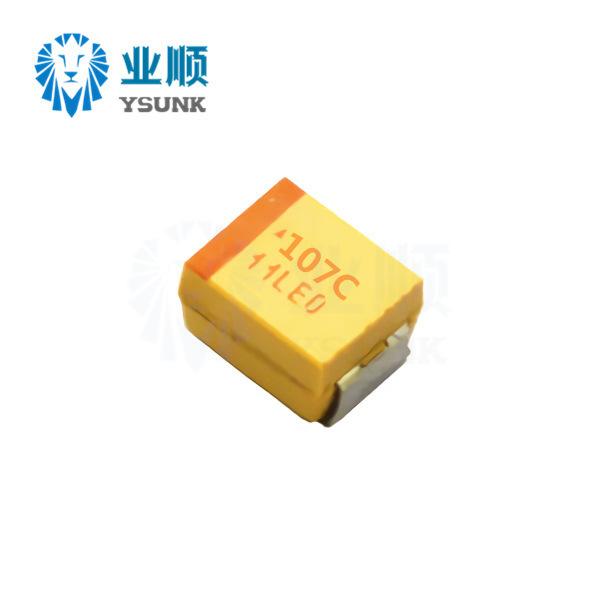 YSUNK SMD tantalum capacitor 107J 100UF 10V Type B 3528 1210 10% yellow bile capacitor