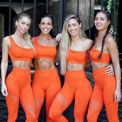 Net nổi tiếng Châu Âu và Mỹ Bộ đồ tập yoga một dây rỗng tập hợp đồ lót thể thao áo vest nhanh khô qu