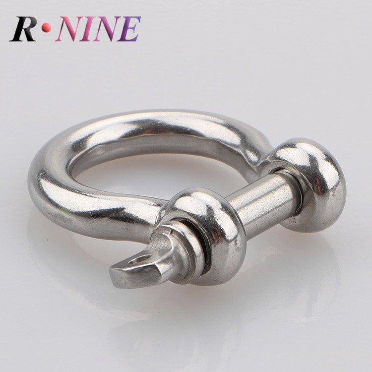 Stainless steel wire rope shackle quality assured hardware rigging accessories 304 bow shackle