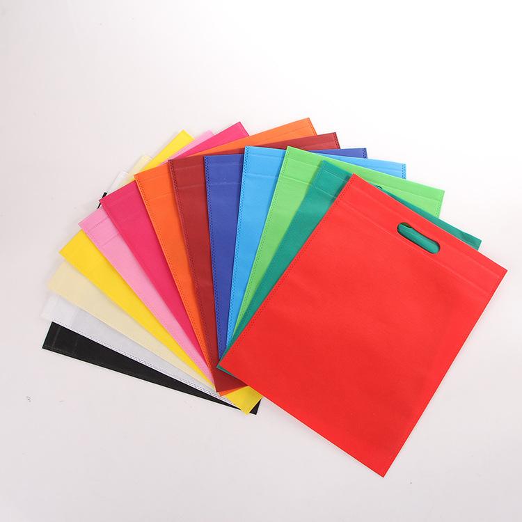Blank non-woven flat pocket Ultrasonic hot pressing punching bag Heat sealing exhibition promotional