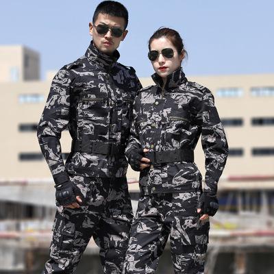 Bán buôn ngay con trăn đen mô hình ngụy trang phù hợp với nam sinh viên đào tạo quân phục huấn luyện