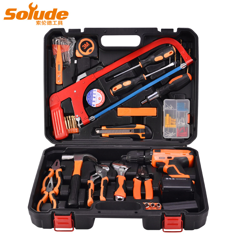 SOLUDE Solund household hardware electrician electric electric drill tool set multifunctional woodwo