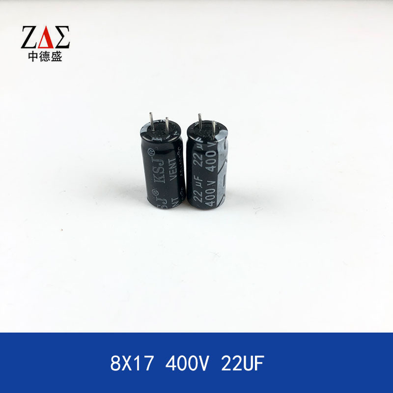 Aluminum electrolytic capacitor straight plug 8X16 400V 22UF \ small volume capacitor for fast char