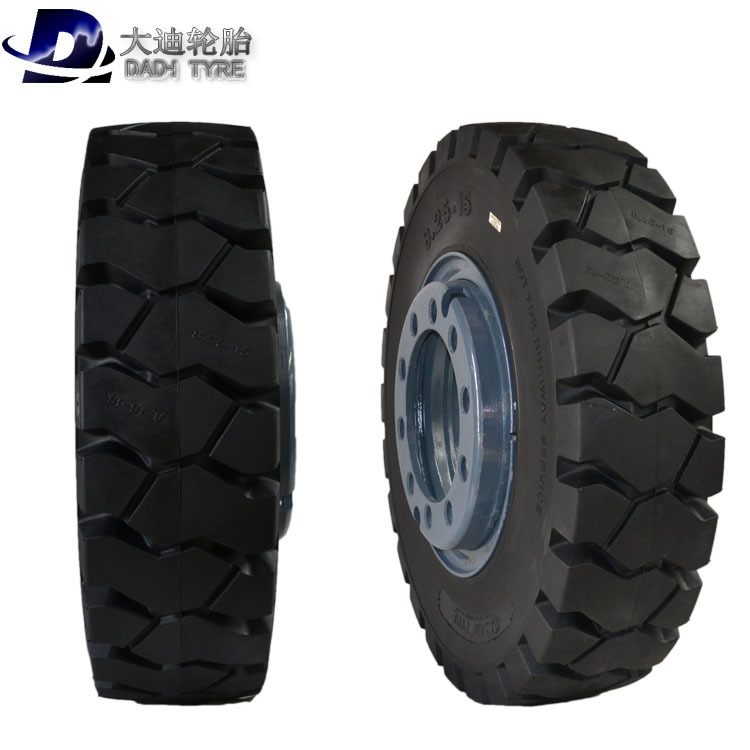 Port equipment special trailer 825-15 tire solid load wheel axle lining trolley wheel