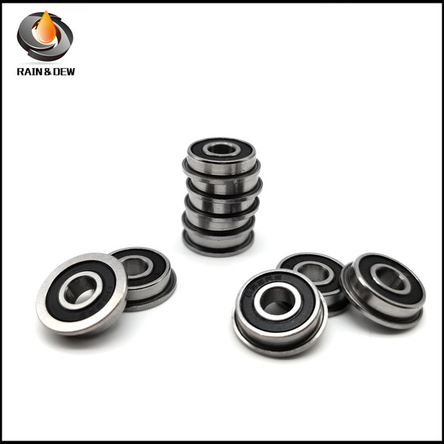 Flange series bearings F695 2RS 5*13*4 miniature with ribs