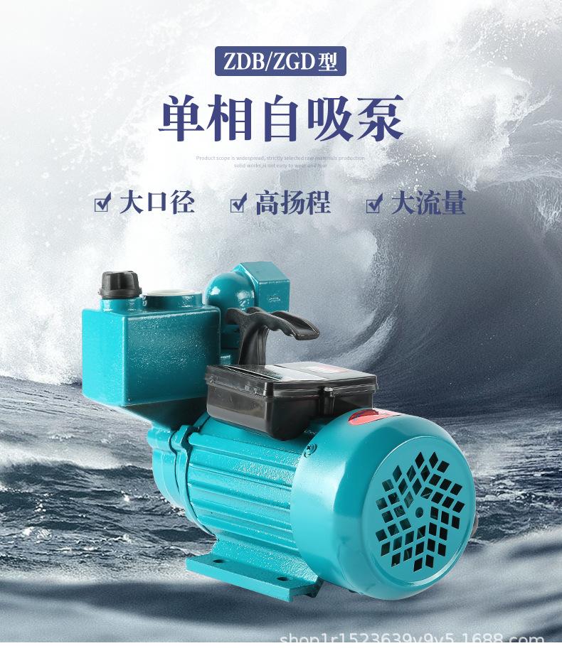 Máy bơm tự mồi máy bơm áp lực cao 220V một pha ZDB / ZGD .