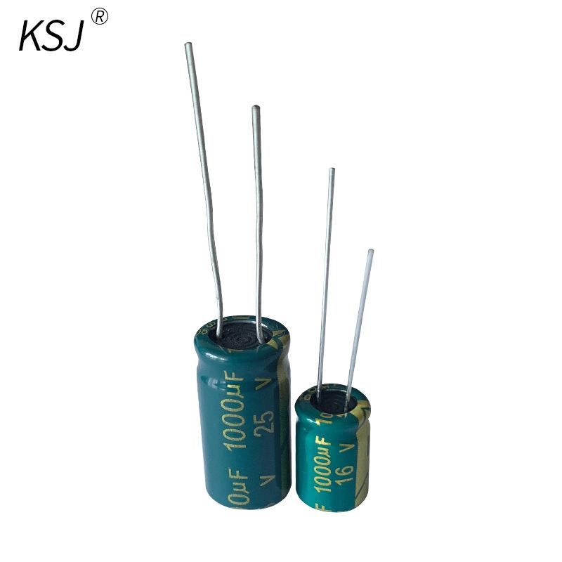 Electrolytic capacitor custom manufacturer high frequency 16v1000uf high voltage plug-in 25v1000uf e