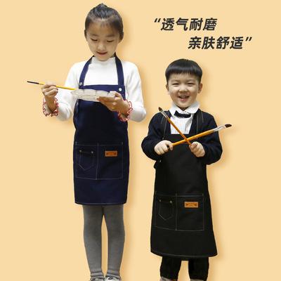 Life Fangyuan tạp dề trẻ em làm theo yêu cầu quần áo in logo tùy chỉnh canvas nghệ thuật quần áo sơn