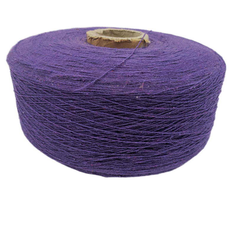 Recycled cotton yarn 8 counts air spinning cotton spinning glove yarn violet cotton yarn polyester c