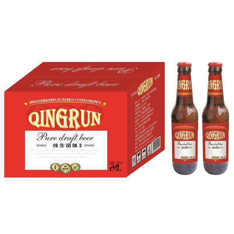 275ml brown bottle of Qingrun beer, full box of 24 bottles of 2.5 degrees bar KTV delivery of craft