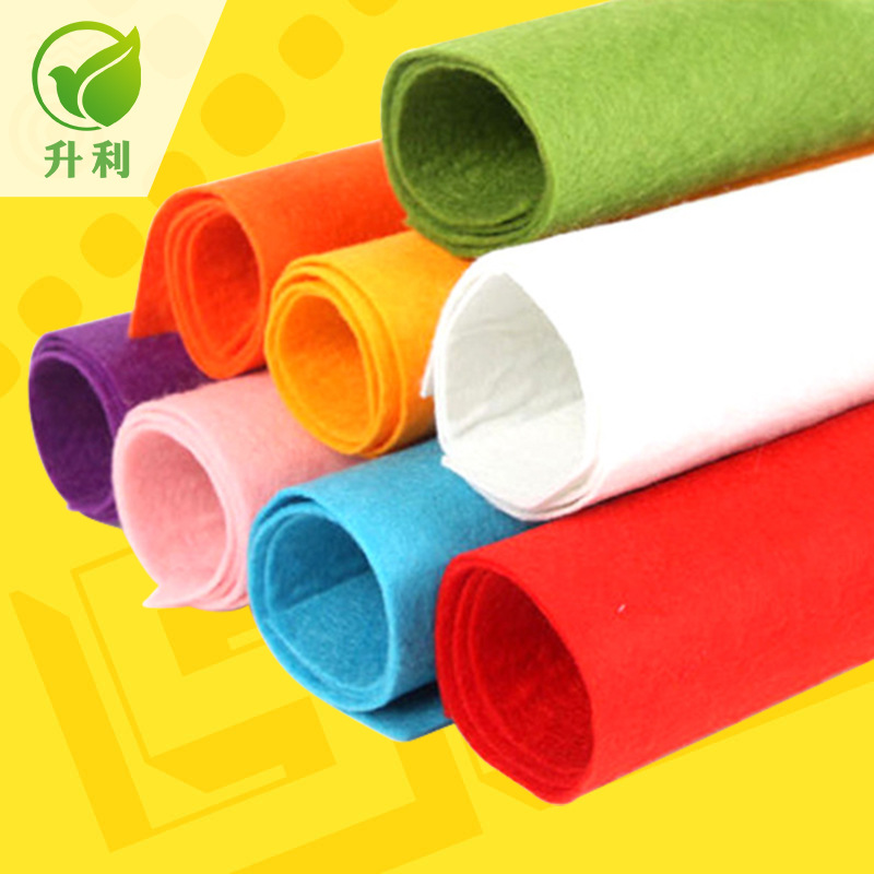 SHENGLI Polyester Spunbond Non-woven Fabric Colored Home Textile Non-woven Fabric Needle Punched Non