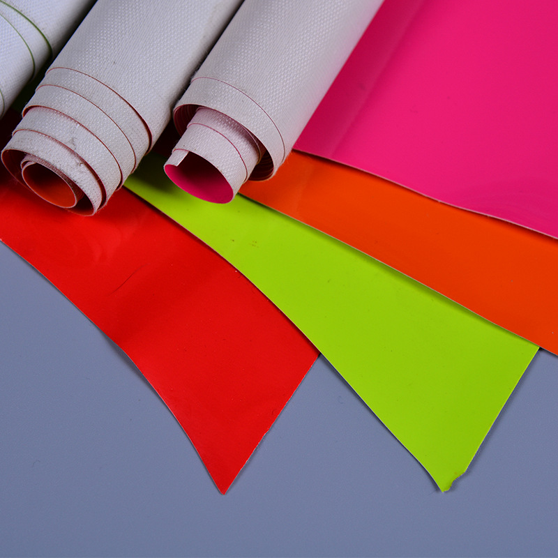 Fluorescent PVC mirror artificial leather fabric fabric Soft bag diy handmade ID leather bag