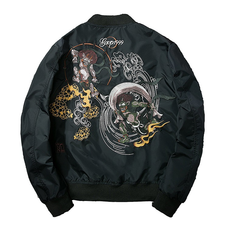 Japanese tide brand embroidery baseball uniform men's and women's bomber jacket youth jacket sprin