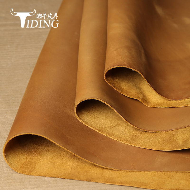 The first layer of cowhide crazy horse leather leather material stock 1.8~2.0mm high quality retro c